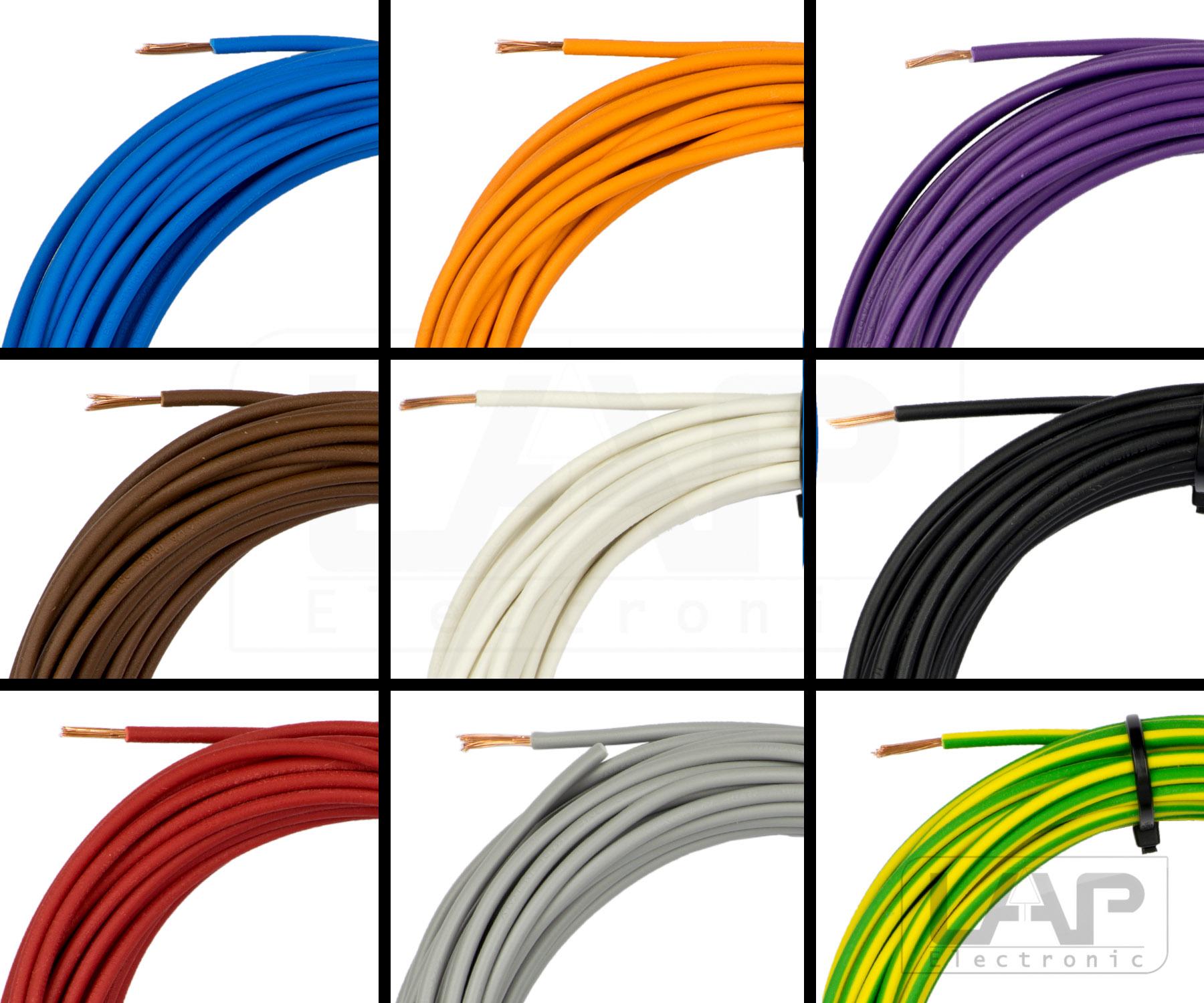 ⭐️Lapp Kabel⭐️ H07V-K H05V-K 0,75 1,0 1,5 2,5 4 6 10 16mm² Einzelader Litze